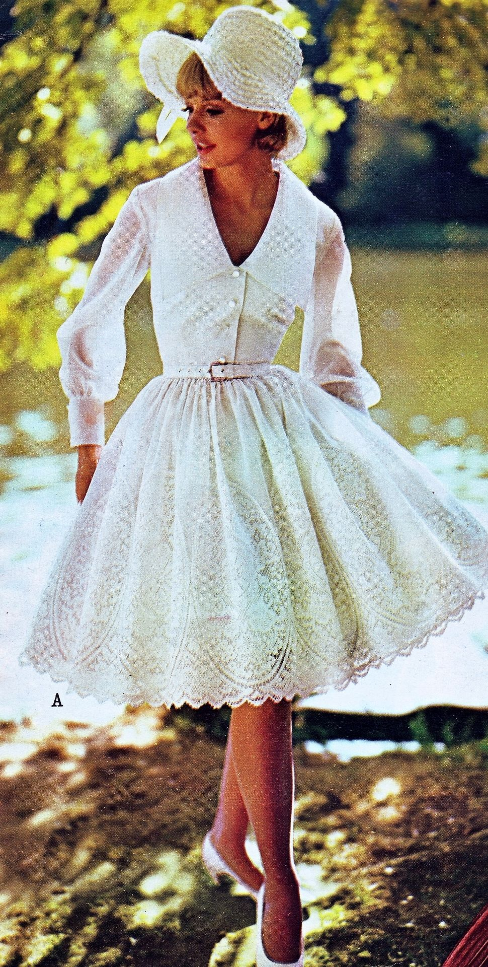 White Lace Dress In The Spring Summer Ward Catalog 1965 Lace White Dress Lace Spring Dress Vintage Dresses [ 1920 x 970 Pixel ]