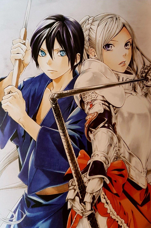Yato & Bishamon Anime art, Anime, Yato