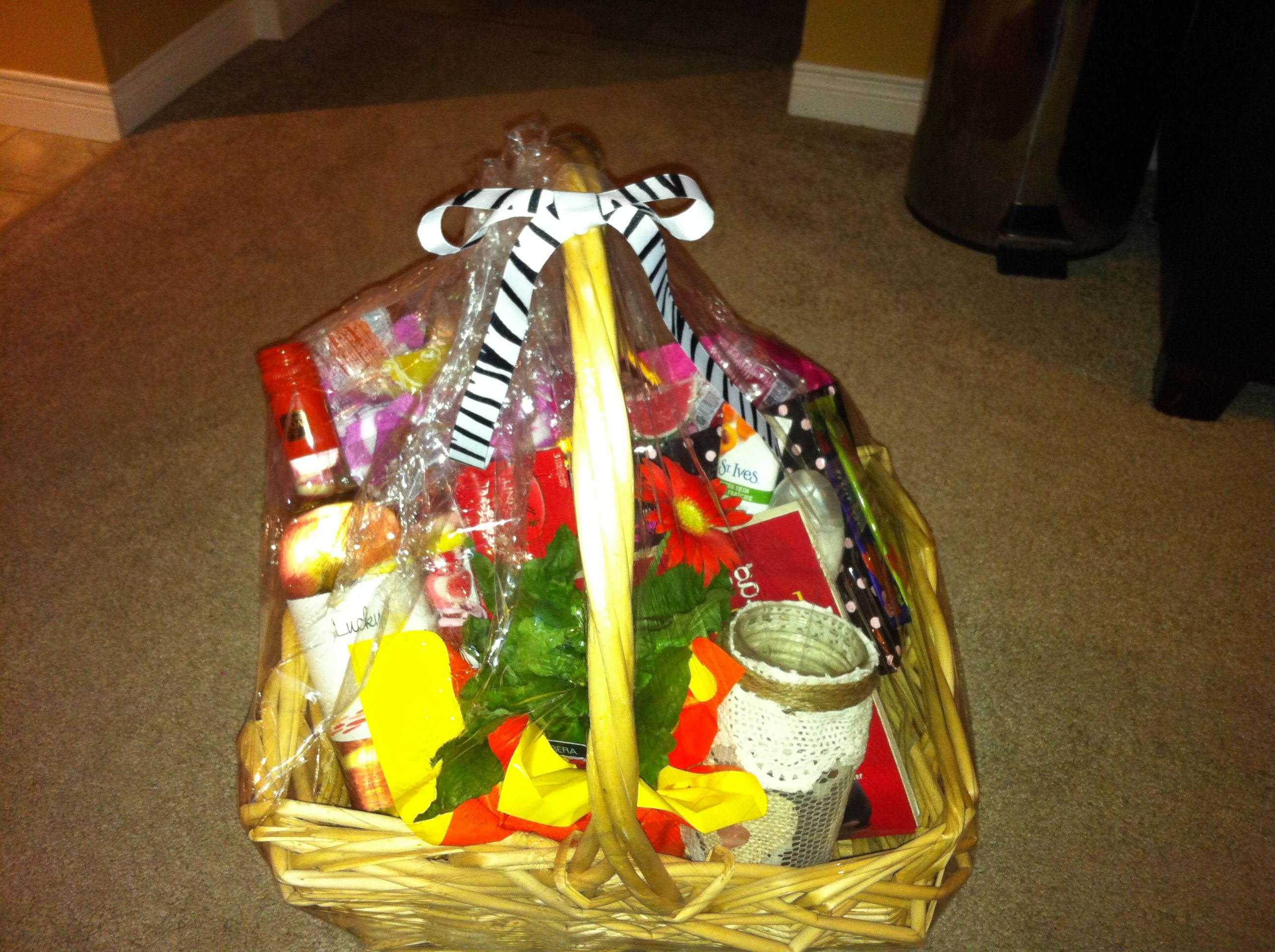Get Well Gift Basket Love The Clear Wrap It Can Be Purchased At The Dollar Store Place You Get Well Gift Baskets Best Affordable Hair Dryer Get Well Gifts