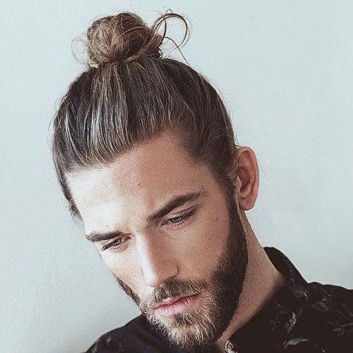 19 man bun styles faces pinterest chignon cheveux longs chignon et chignon tress. Black Bedroom Furniture Sets. Home Design Ideas