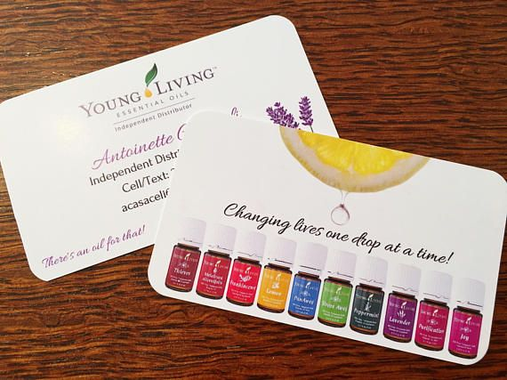 Essential Oil Business Card Template For Independent Young Living Business Cards Templates Young Living Business Cards Business Card Template