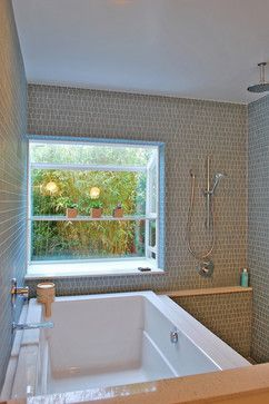 Very Interesting Small Space Side By Side Shower/tub Layout. Closer To  Japanese Style