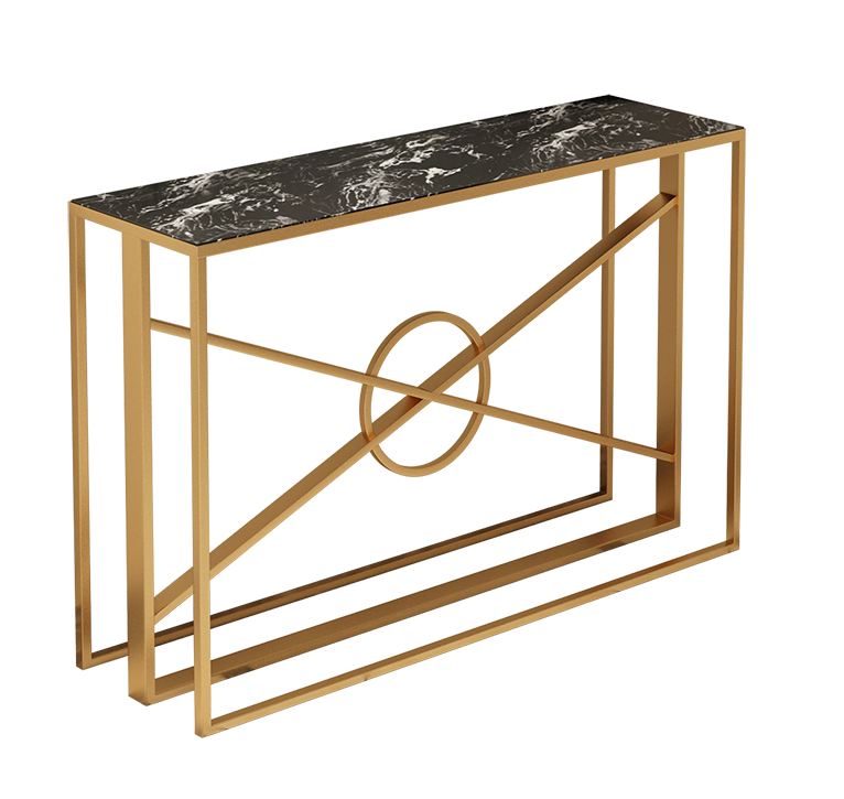 Contemporary Marble Top Gold Metal Frame Console Table Hallway Table View Superior Modern Wooden Top Golden Ir In 2020 Console Table Hallway Console Table Wooden Tops