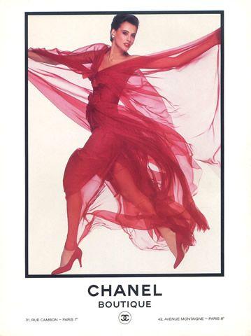 Chanel - Boutique 1985 Inès De La Fressange, Evening Gown ...