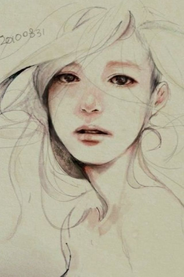 Face Sketch Girl Tumblr Sad Art