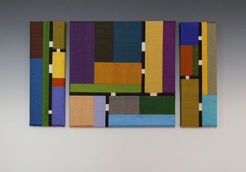 Color Story Triptych by Sonya Lee Barrington (Fiber Wall Art) | Artful Home
