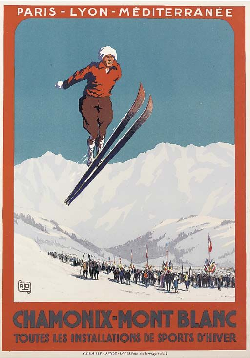 "PLM - Chamonix - Mont-Blanc - 1924 - (Charles Hallo dit ""Alo"") -"