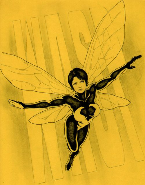 Wasp Jason Baroody Marvel Marvel Heroes Comic Book Girl