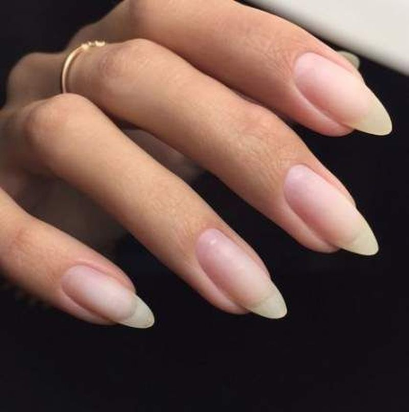 36 Natural Nails Design Ideas For Long Almond Nails In 2020 Natural Nail Designs Natural Nails Long Natural Nails