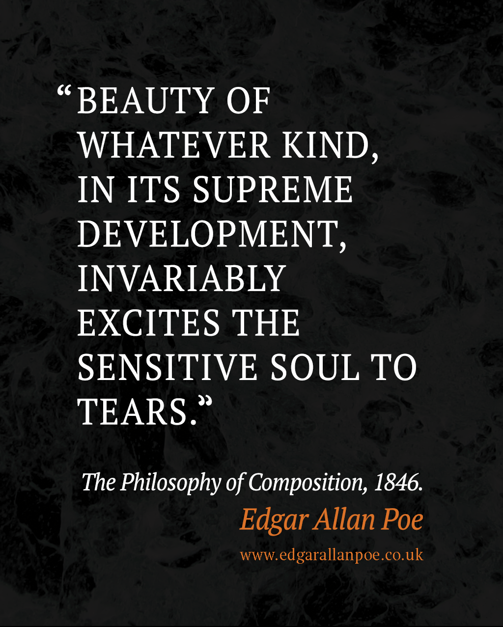 Beauty of whatever kind the philosophy of composition edgar allan poe quote