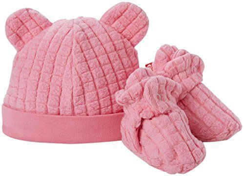 Zutano Baby Girls Cozie Fleece Hat And Bootie Set Baby Hot Pink 12 Months Baby Girl Socks Baby Sets New Baby Products