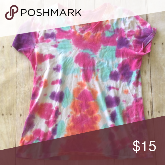 Handmade Tye Dye Shirt Size 8-10. Made in Vietnam. 100% cotton. ️Use like button to get price drop notifications! ❤️ ⭐Bundle to save   ⭐️Personalized bundles!  ⭐️ Use the offer button ⭐️Same day shipping ⭐️ Smoke free home 🚫 No PayPal  🚫 I don't sell on any other apps 🚫 No trades Faded Glory Tops Tees - Short Sleeve