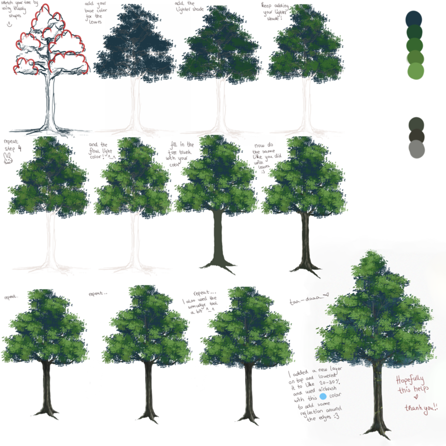 Anime tree tutorial =) by liamsi4 on DeviantArt Arbre