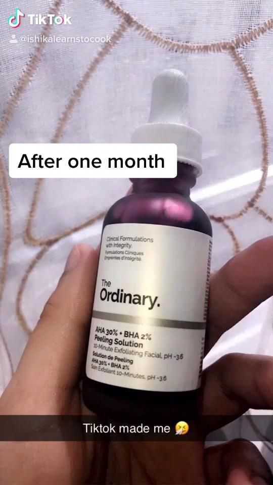 The Ordinary Peeling Solution Before and After in 2020 ...