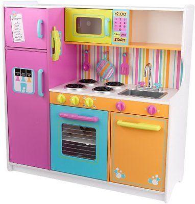 KidKraft Deluxe Big N Bright Kitchen Toy Set Food Kids ...