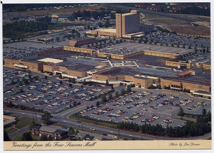Four seasons mall in the 1970s postcard places to visit