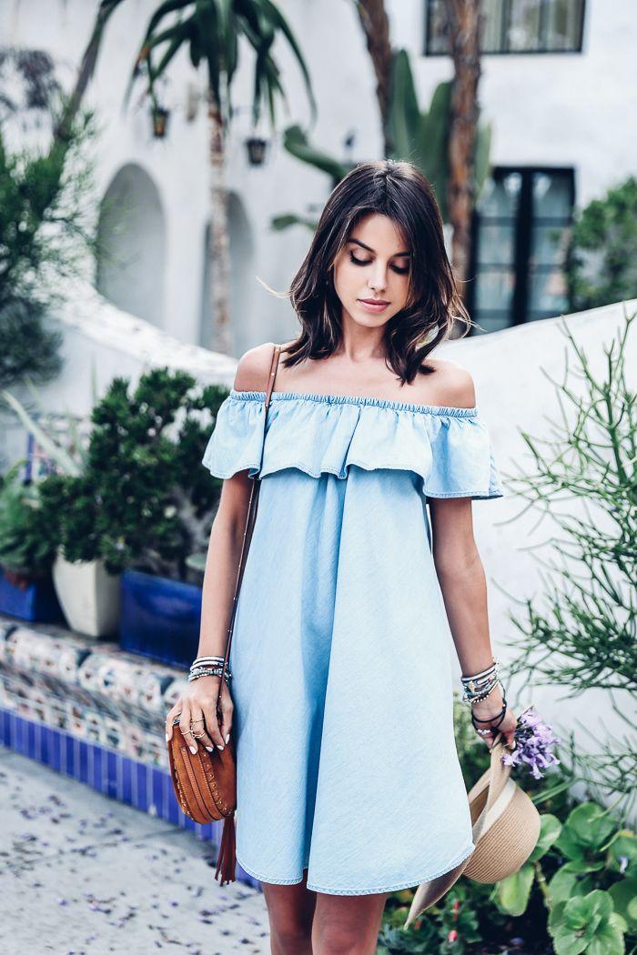 Blue dress shirt outfit night