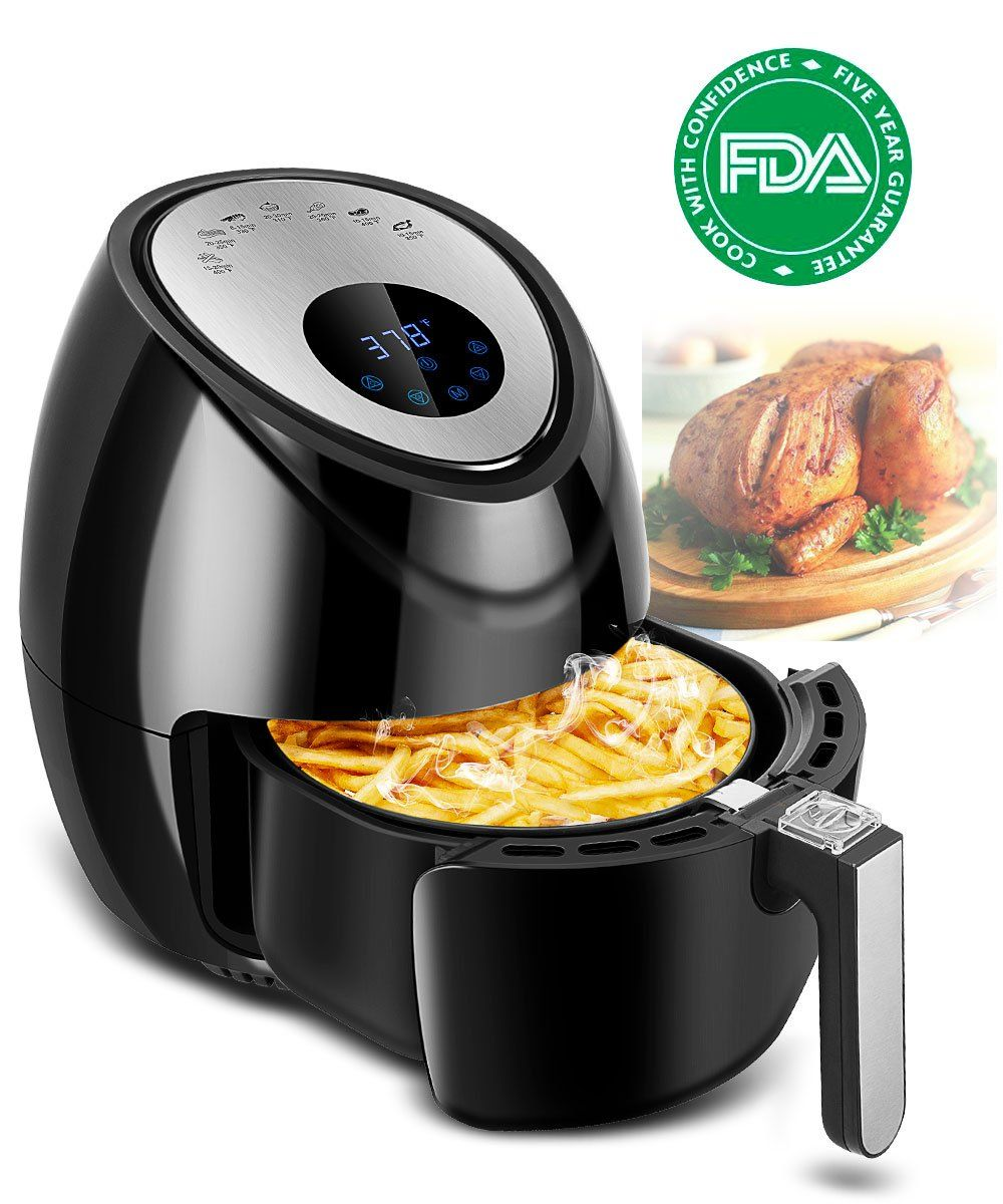 Electric Air Fryer Cooker 3.8 Quart with Recipes and