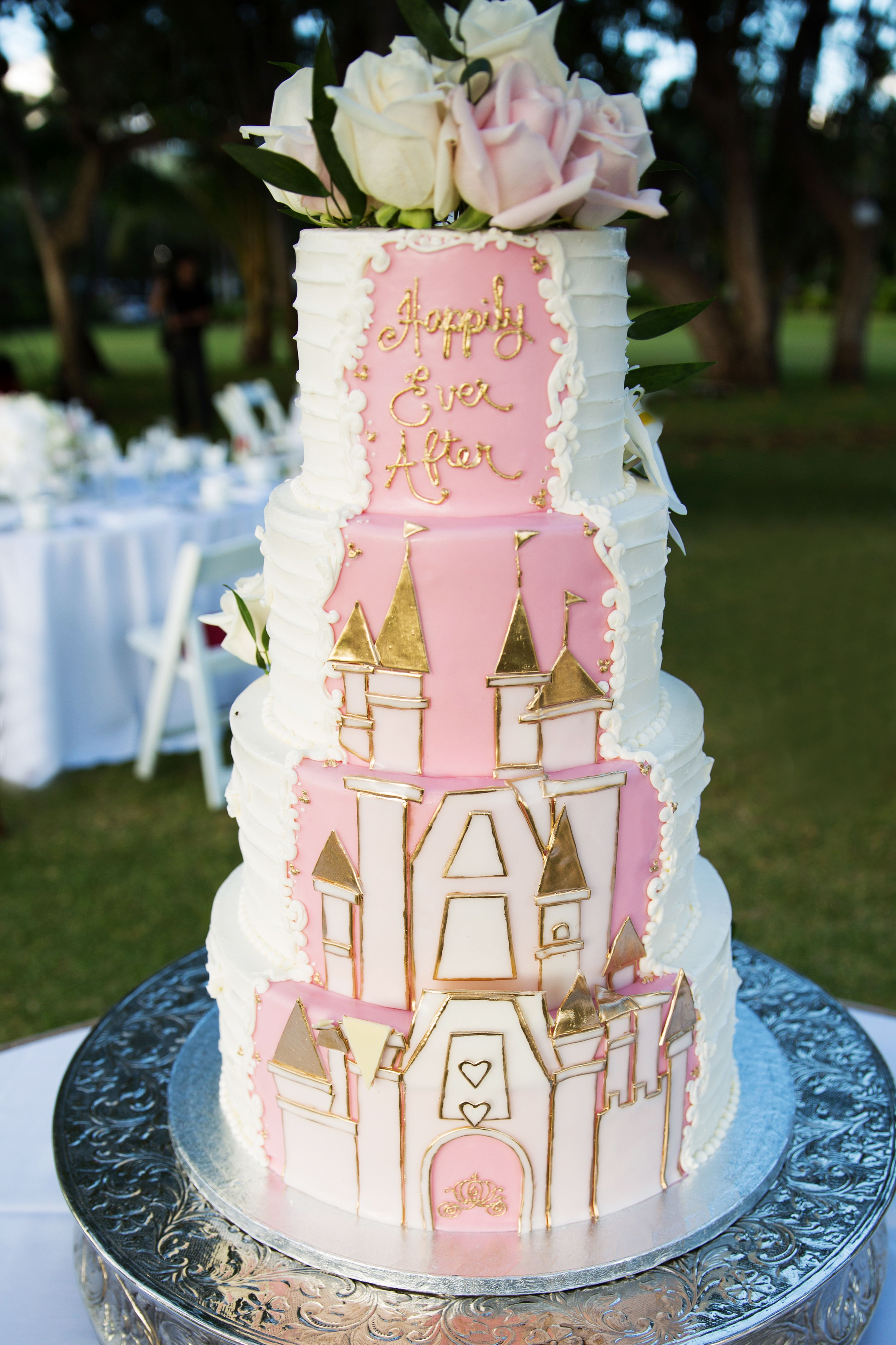 A fairy tale cake design from a wedding at Aulani, a Disney Resort ...