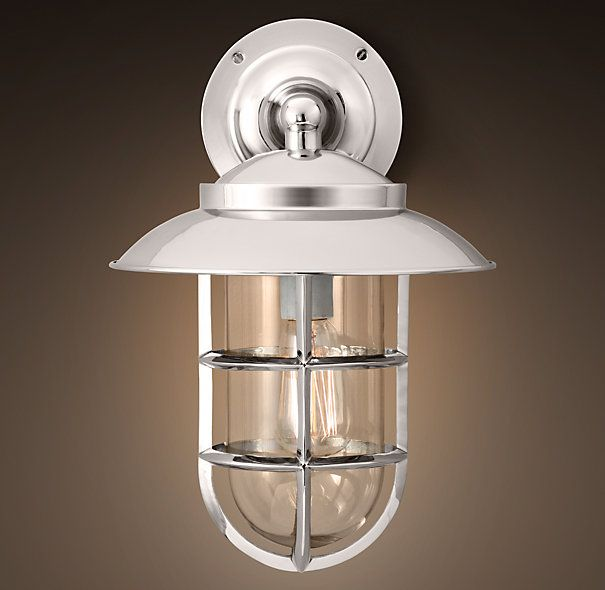 Outdoor Lighting For Beach House: Starboard Sconce With Shade