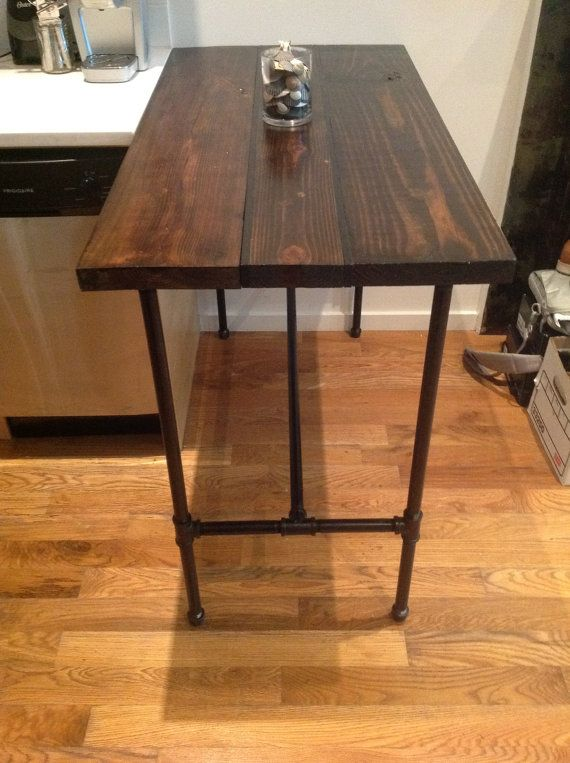 Reclaimed Wood Kitchen Table With Black Pipe Legs By