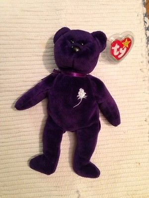 Ty Princess Diana Beanie Baby No Space On Tag Pe Pellets