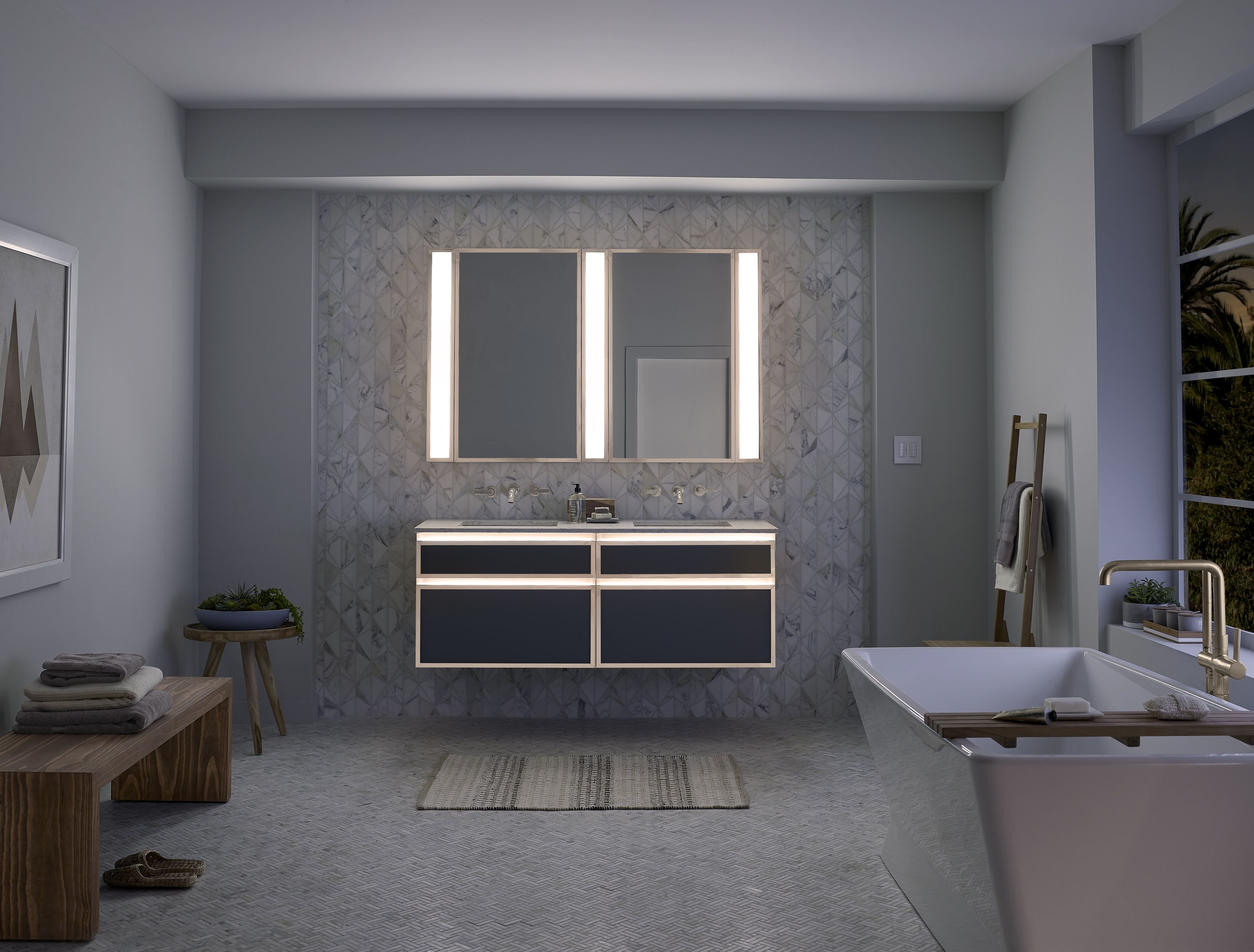 Built In Night Lighting On This Pros Collection Vanity Makes A