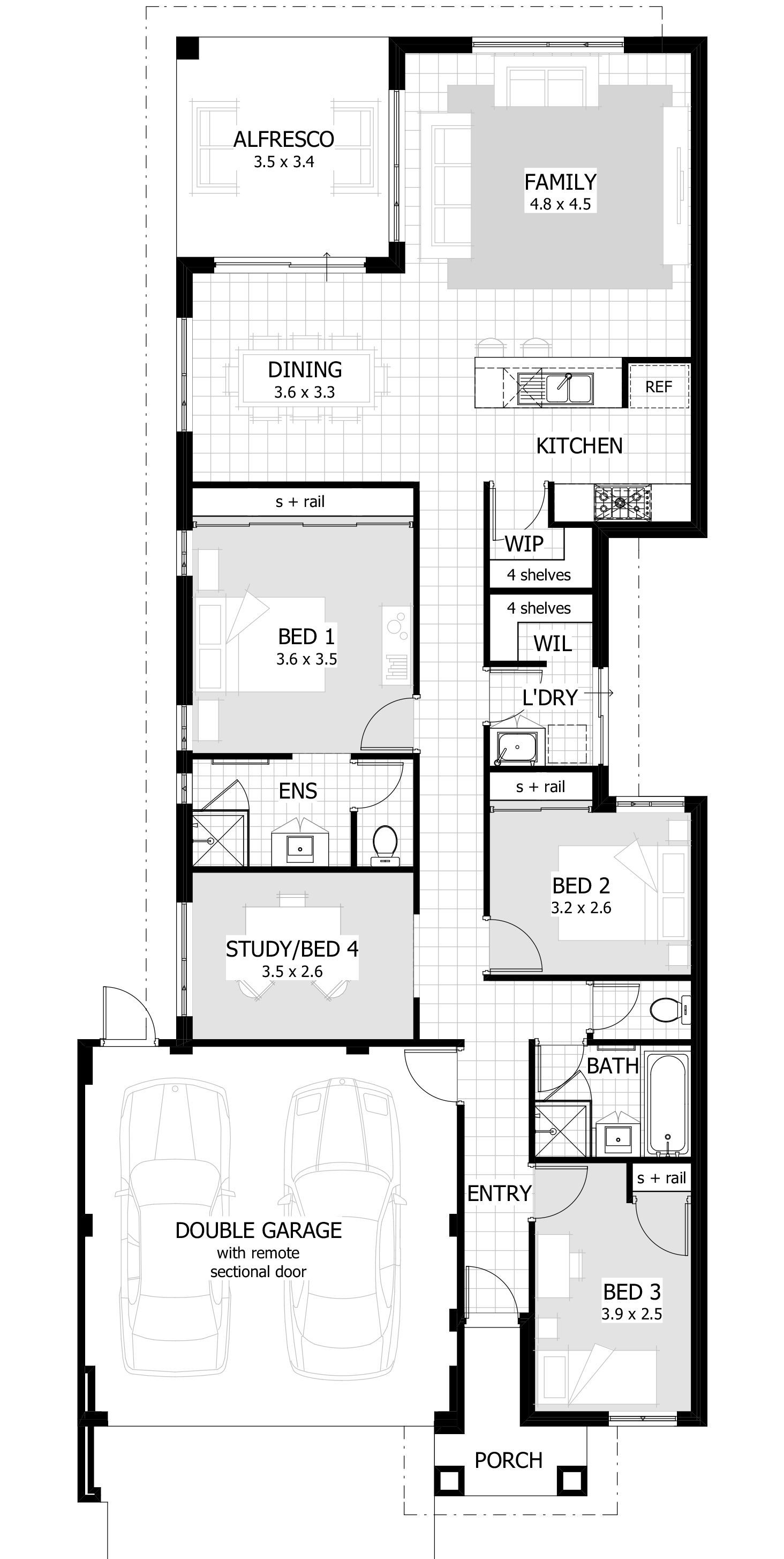 18 Easy Bedroom House Plans Story For You Heating And Plumbing Plans Are Normally Not Inclu Narrow House Plans House Plans Australia Single Storey House Plans