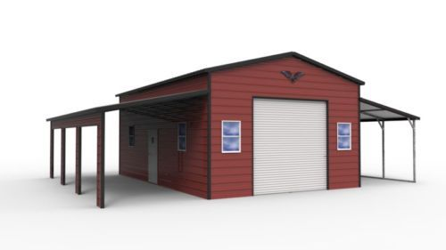Details About 42x31 Steel Garage Barn Free Delivery Installation Nationwide Prices Vary Steel Garage Steel Barns Roll Up Doors