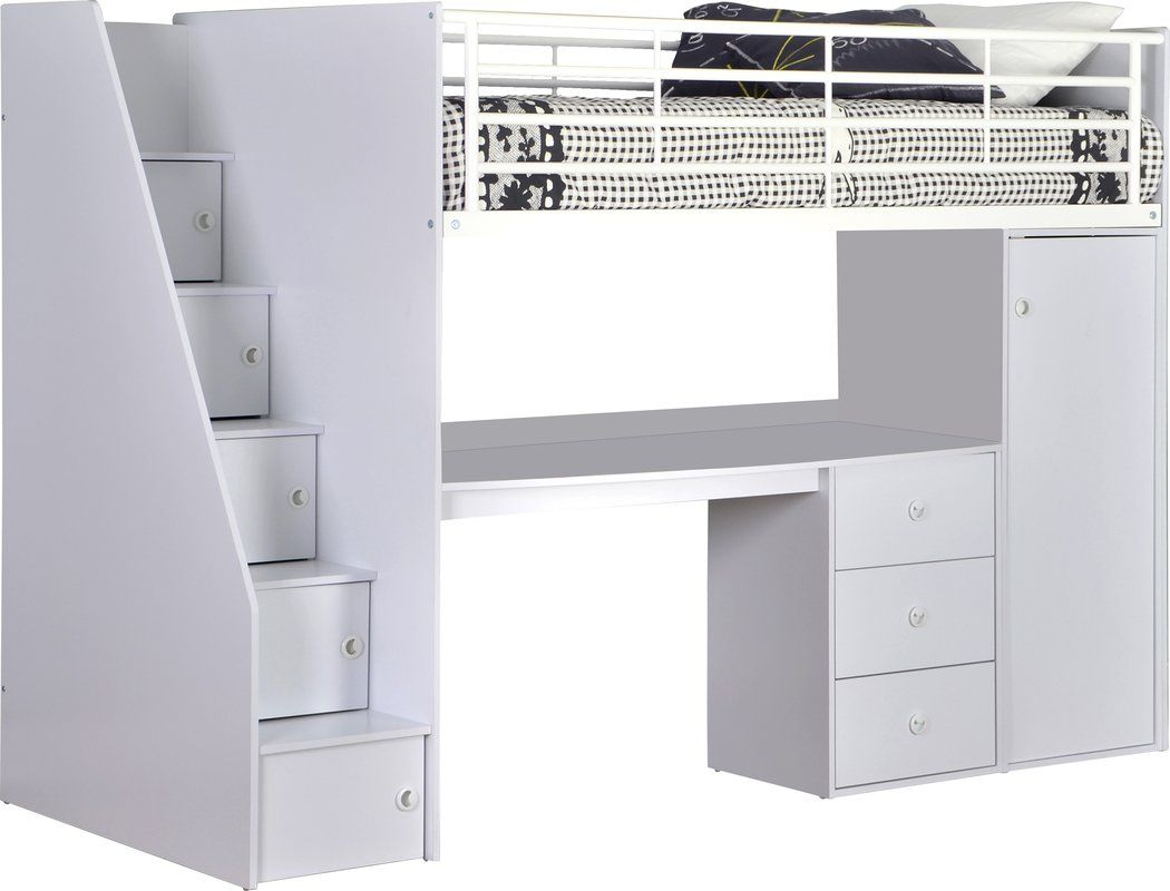 Ray Single High Sleeper Bed With Furniture Set In 2019