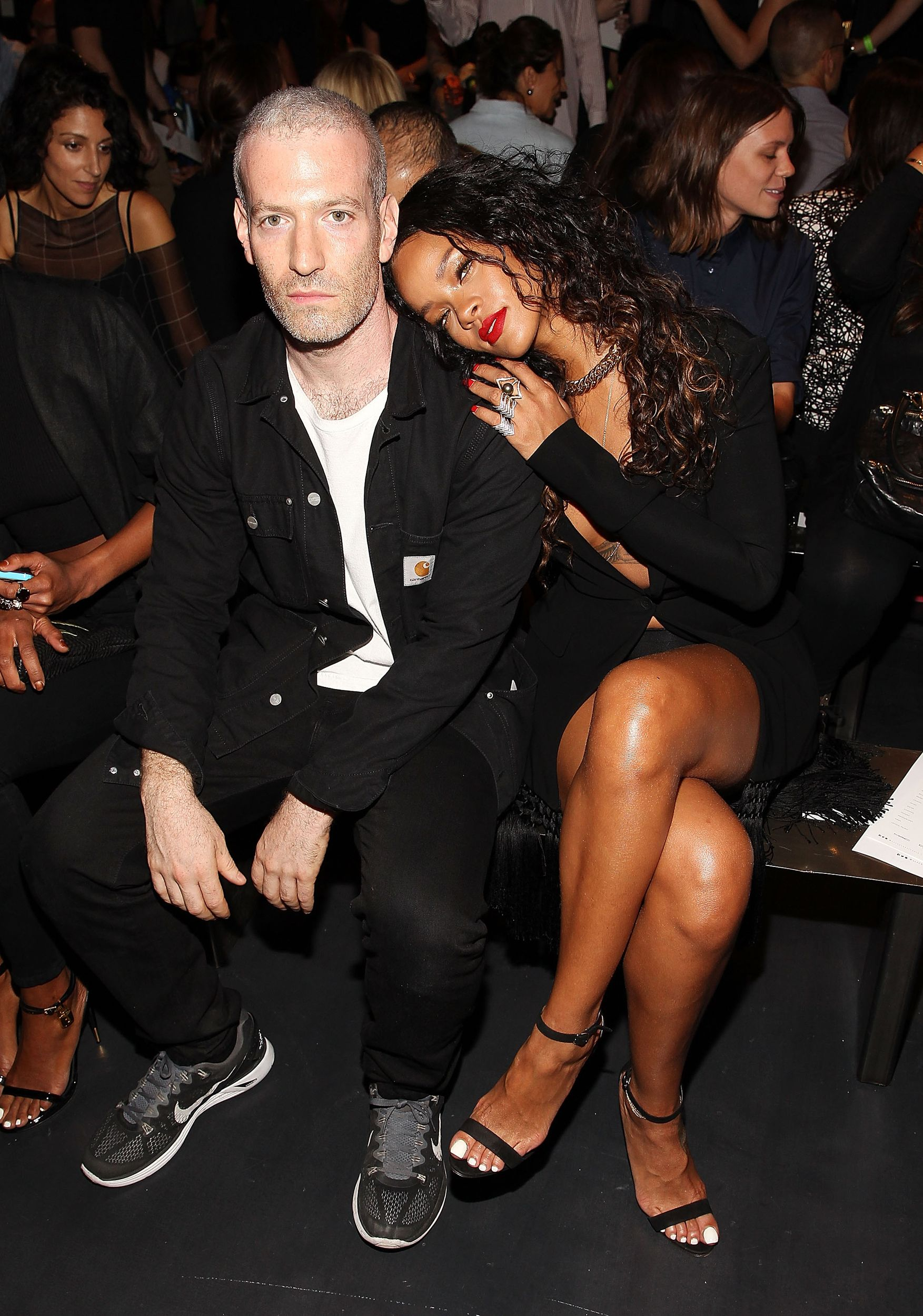 Stylist Mel Ottenberg and Rihanna attend the Altuzarra fashion show. via @stylelist | http://aol.it/YvhfgH