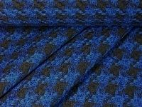 Jacquard Hahnentritt royal-schwarz von Textil-Aktuell auf DaWanda.com
