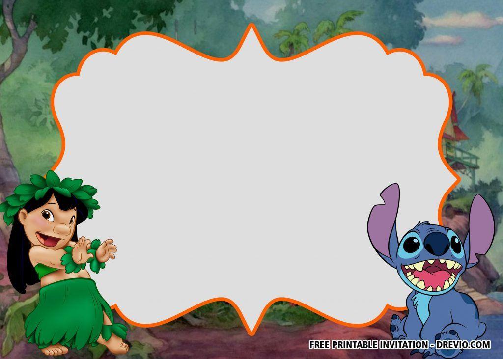Free Lilo And Stitch Invitation Templates For Summer Party Lilo And Stitch Lilo And Stitch Birthday Lilo And Stitch Party