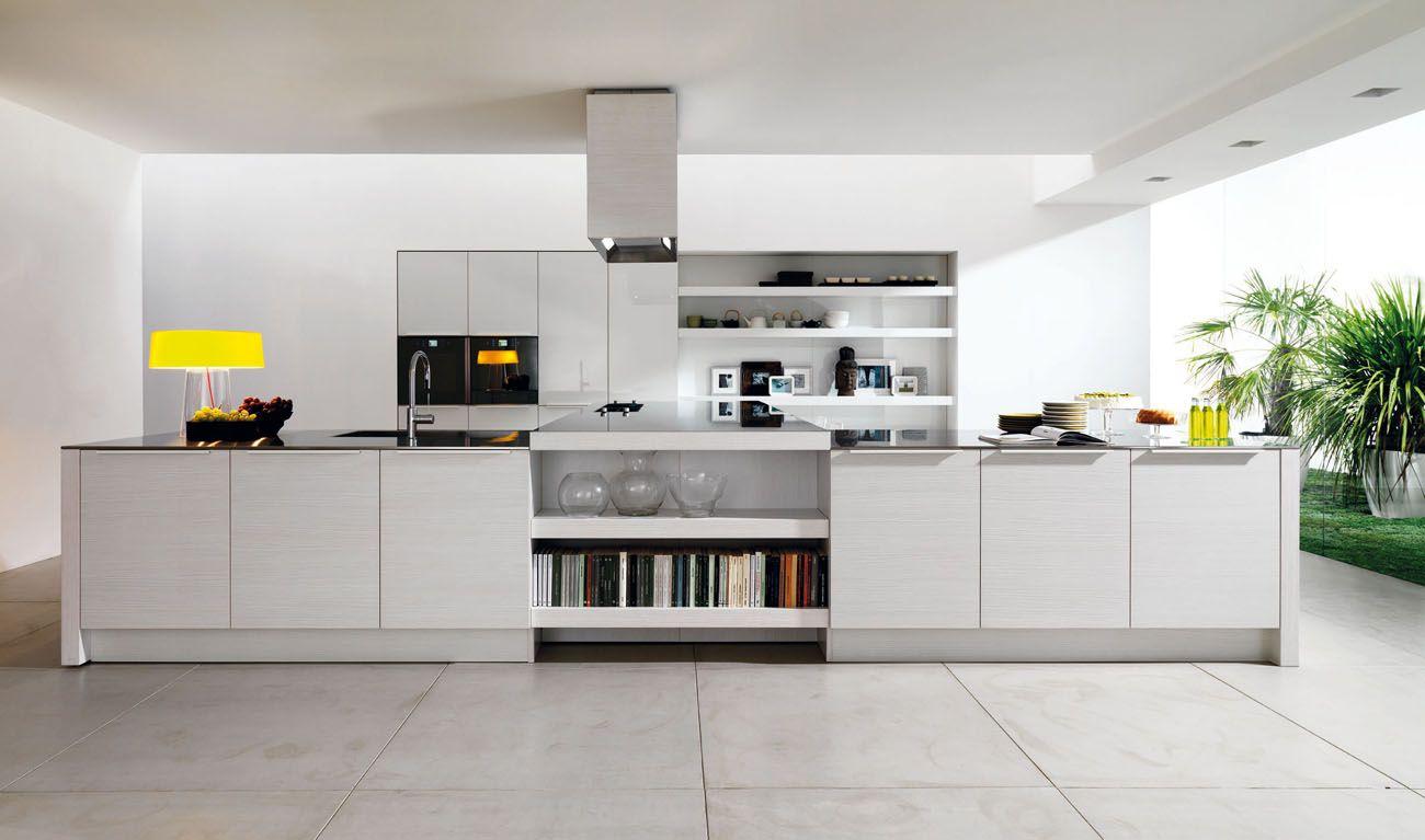 light gray flooring contemporary kitchen - Designer Kitchen Floors
