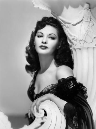 'Yvonne by Carlo (1922 2007) actrice d'origine canadienne naturalisee americaine (b/w photo)' Photo - | Art.com