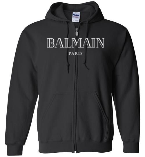 1485b7c6658 awesome Balmain Logo Zip Hoodie