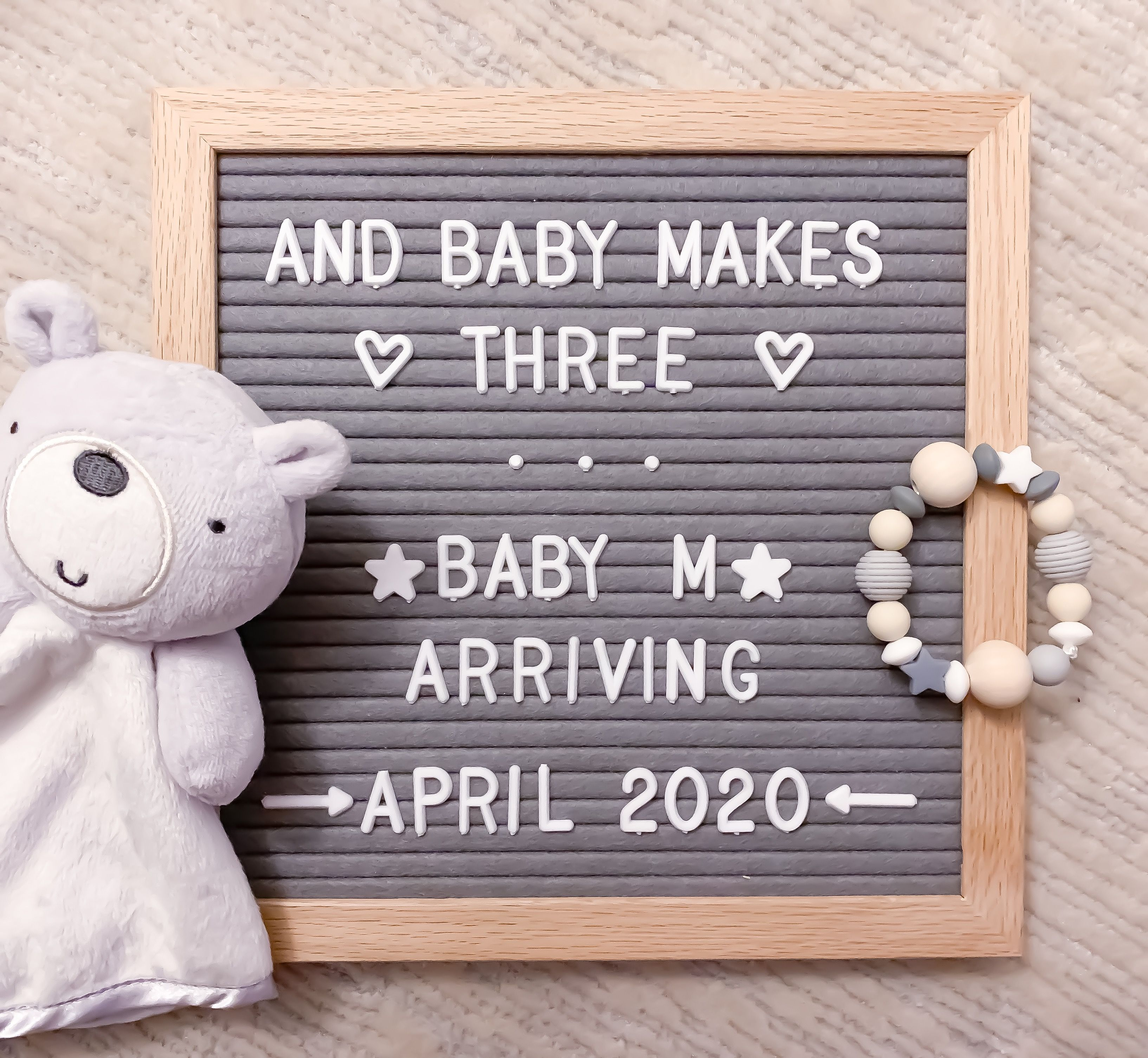 Welcoming Baby M in 2020   Baby announcement, Third baby ...