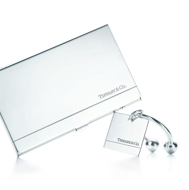new concept 3f947 9e335 Tiffany & Co.® business card case and rectangular key ring in ...