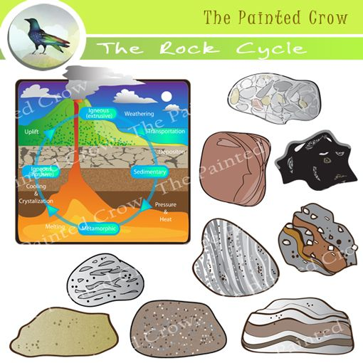 The rock cycle rock clip art sedimentary igneous metamorphic the rock cycle rock clip art sedimentary igneous metamorphic 4th grade ccuart Images