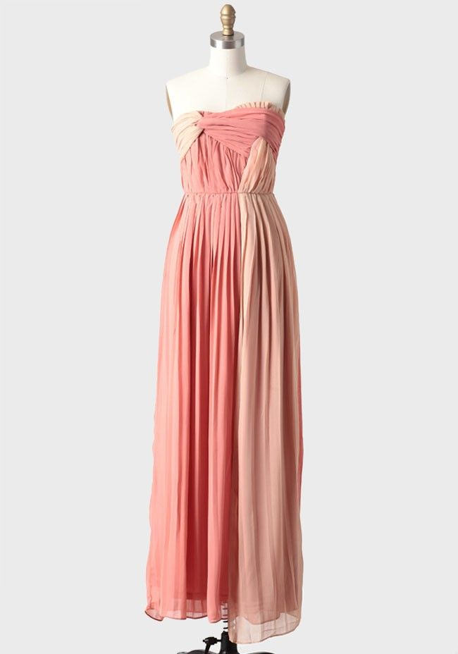 Celosia Pleated Dress In Rose | Modern Vintage Bridal | My Style ...
