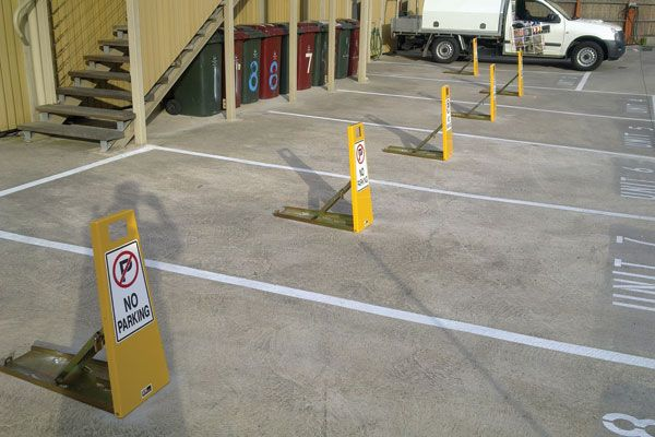 Barrier Group Parking Space Protector - no parking or no