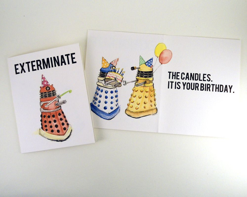 Doctor who birthday card Doctor Who Pinterest – Doctor Who Birthday Card