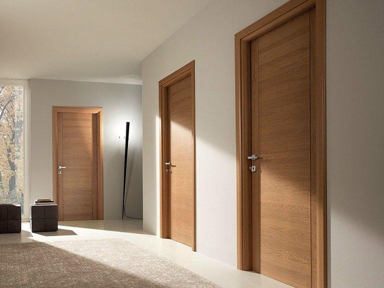 Hinged solid wood door