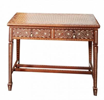 Bone Inlay Vintage Writing Desk Bone inlay furniture