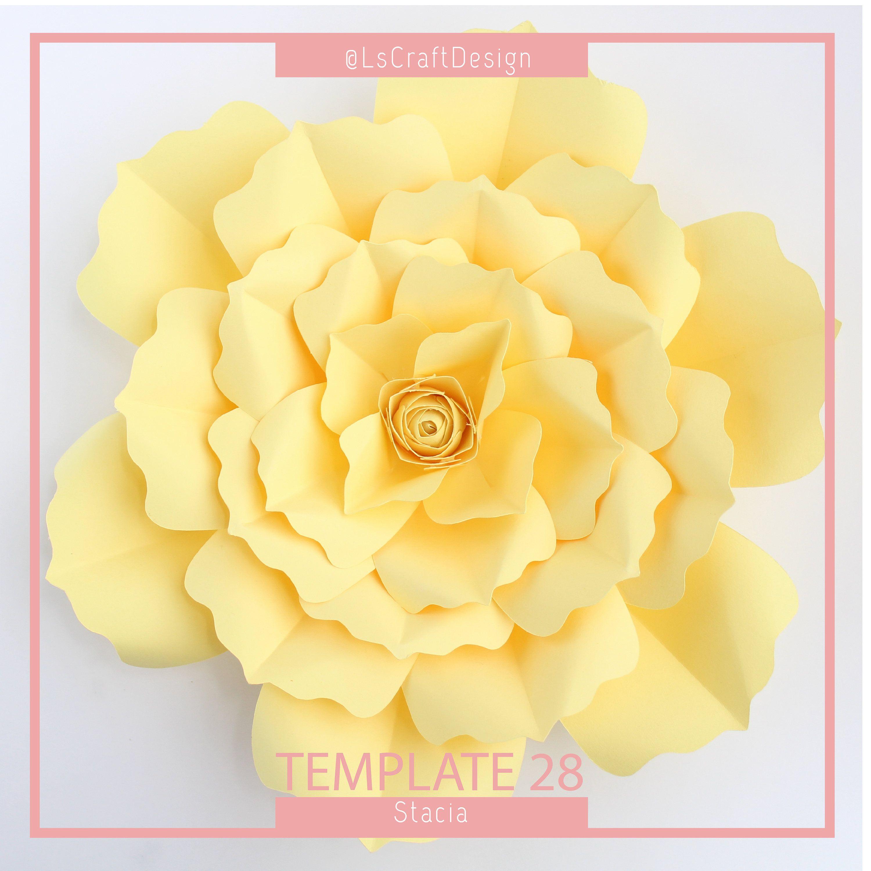 Pdf Paper Flower Template Paper Flower Template Diy Paper Flower