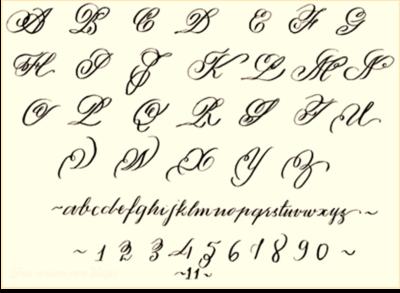 Disenos De Letras Cursivas Para Tatuajes Lineas Letras Abece