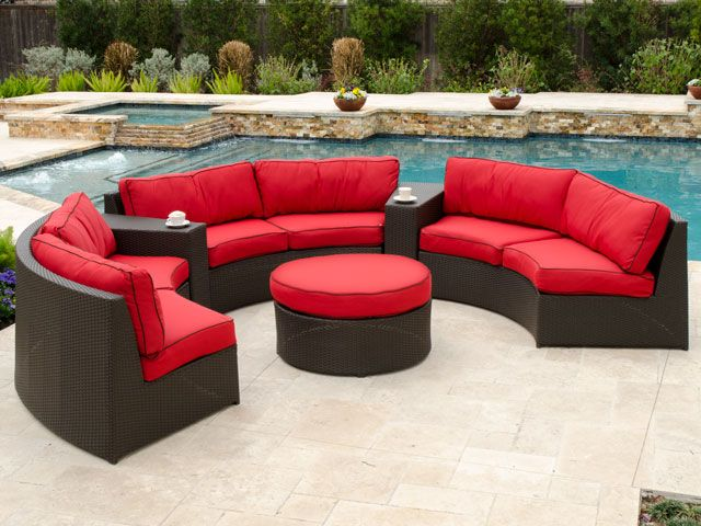 Catalina Resin Wicker 5 Pc Contour Sectional Seating Group Patio Furniture For Sale Outdoor Furniture Outdoor Furniture Chairs