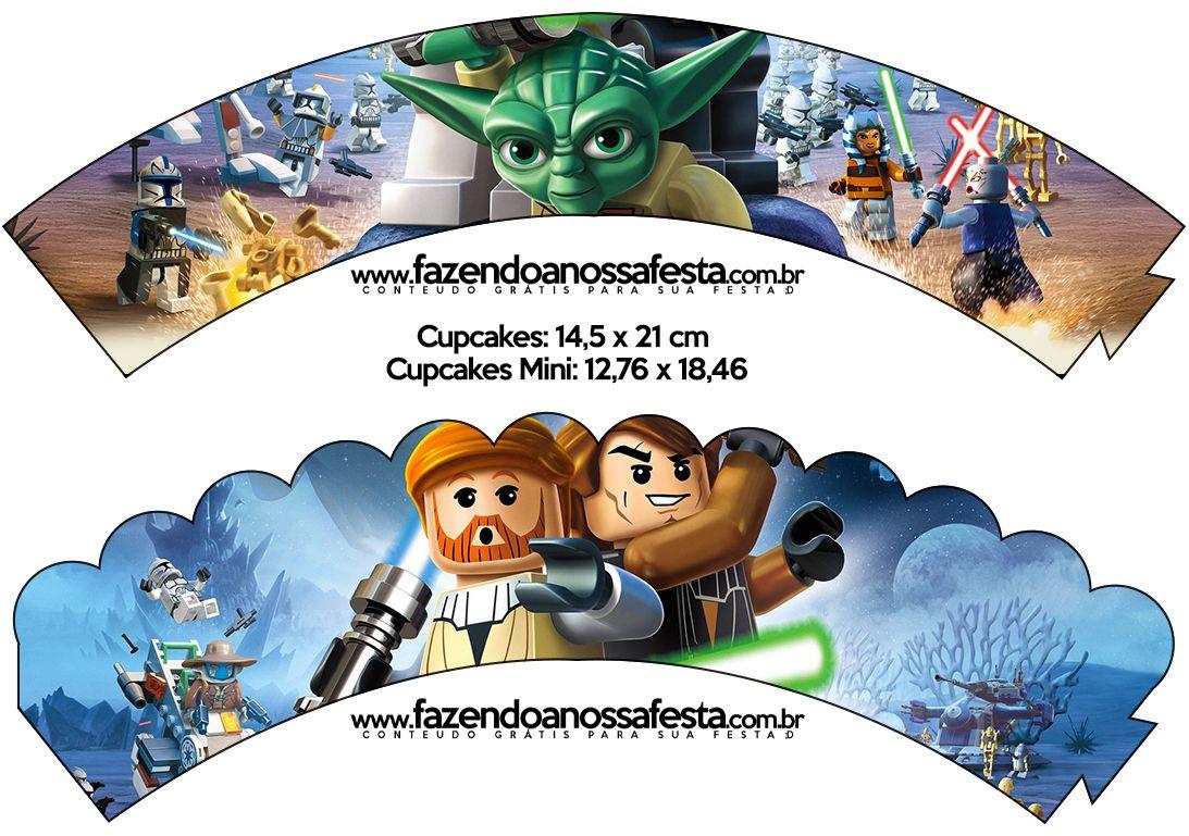 Saias Wrappers para Cupcakes Lego Star Wars: