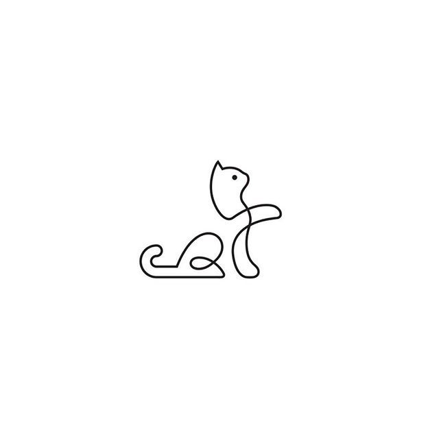 more cat logos click the link in our bio black line cat by