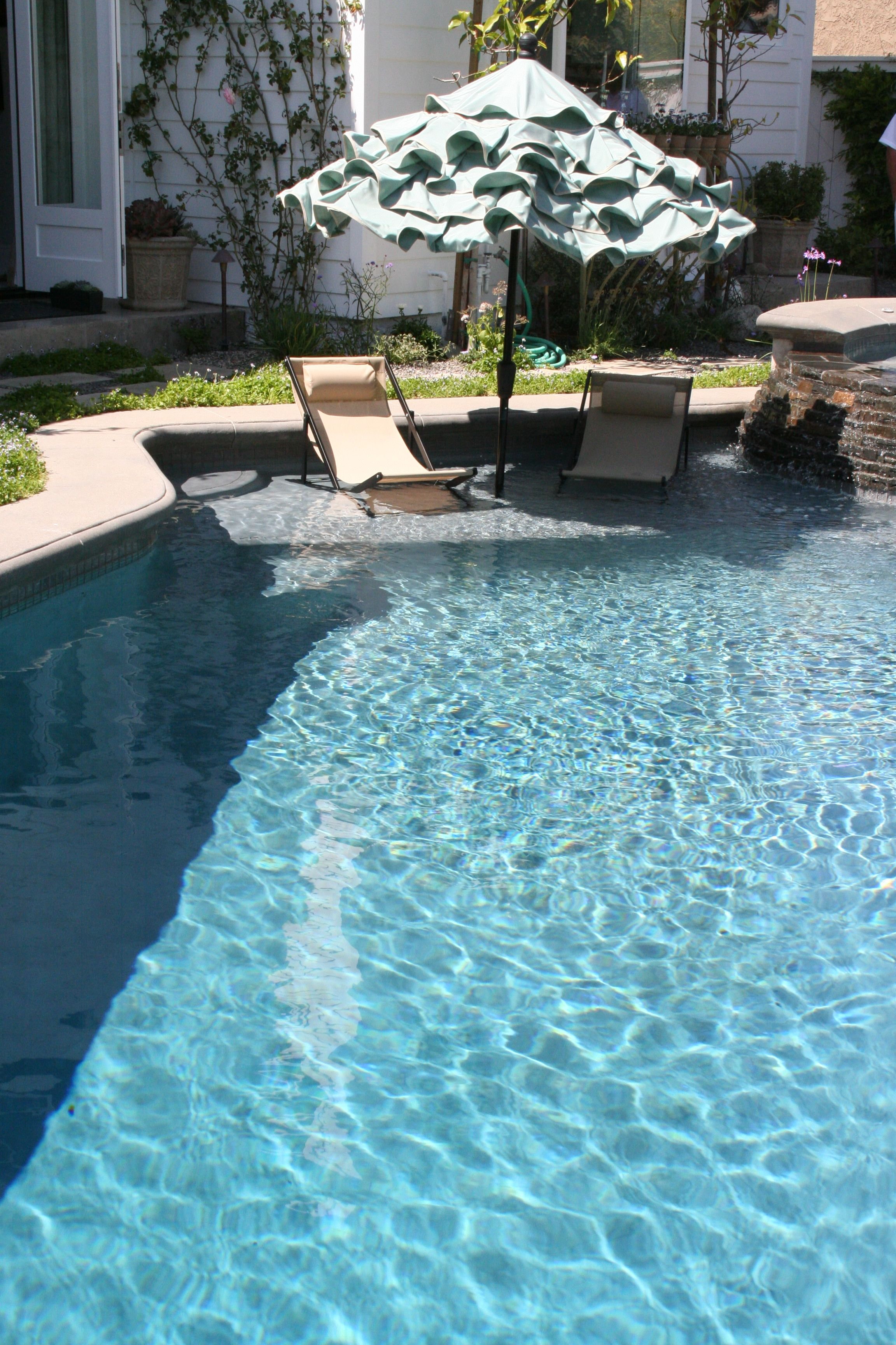 Umbrella In Pool Love These New Platform Areas The Sullivan Relax Chair And Stay Cool